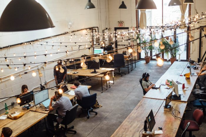Großraumbüro modern