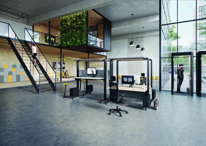 Großflächiges Büro